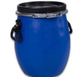 Бочка тара пластиковая с крышкой на обруч 30 литров, Магнитогорск