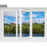 Окно ПВХ Rehau Blitz 2100х1400 (3С/3К) Поворотно-О, Магнитогорск