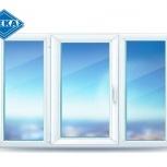 Окно ПВХ EUROLINE 2100х1400 (3С/3К) Откидное, Магнитогорск